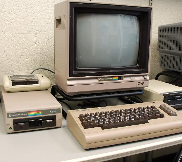 A typical Commodore 64 set-up